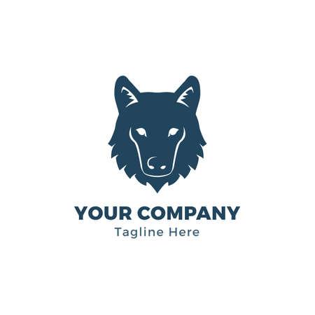 Modèle de logo de tête de loup Logo