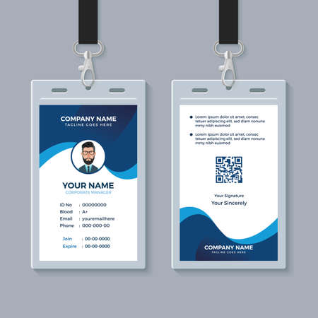 Modern Clean ID Card Template Иллюстрация