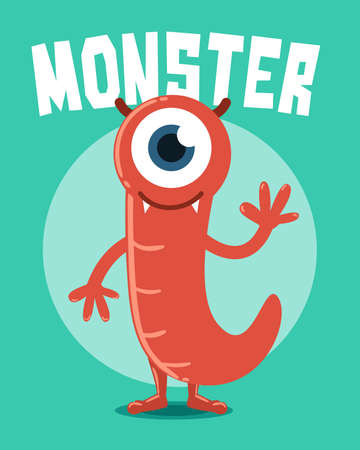 Red Monster with One Eye