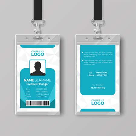 Modello di progettazione della carta d'identità aziendale