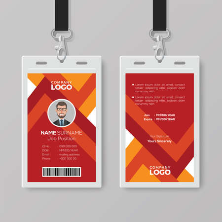 Modern ID Card with Abstract Background