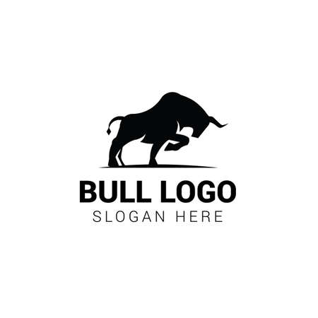 Bull logo template isolated on white background