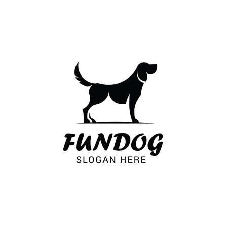 Modello di logo del cane isolato su sfondo bianco
