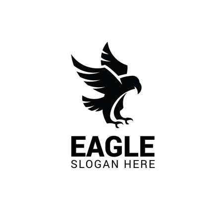 Eagle logo template isolated on white background Illustration