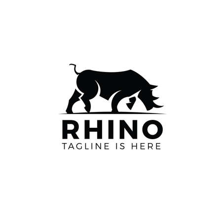 Rhino logo template Stock Illustratie