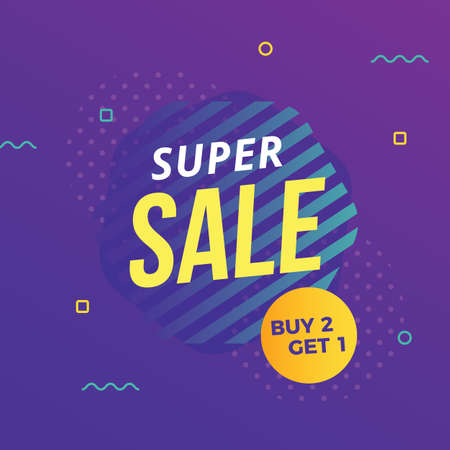 Abstract modern super sale banner