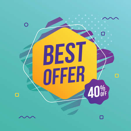 Best offer abstract banner