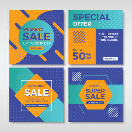 Abstract sale banners for social media. Vol.4
