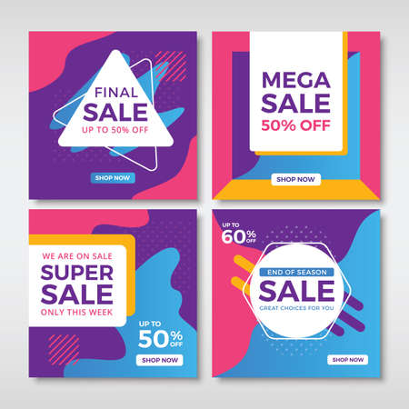 Abstract sale banners for social media. Vol.6 Ilustrace