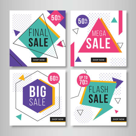 Abstract sale banners for social media. Vol.7