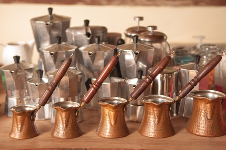 italian   turkish coffee pots photo
