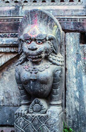 Hindu stone carved  photo