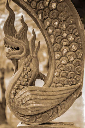 Naga wooden carved  photo