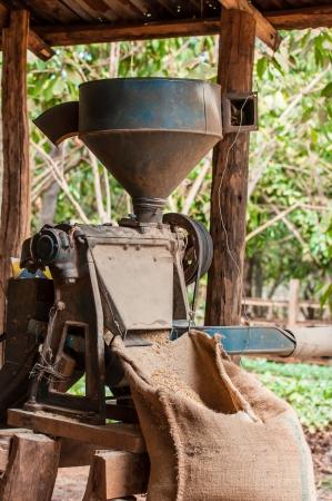 koffie pellen machine