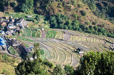 pokhara: countryside in Pokhara, Nepal Stock Photo