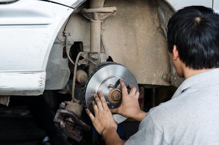 brake disc: brake disc with technician