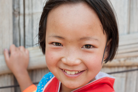 11 year old: Portrait of Asian Girl Smiling