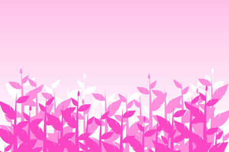 pink flowers background tree Ilustrace