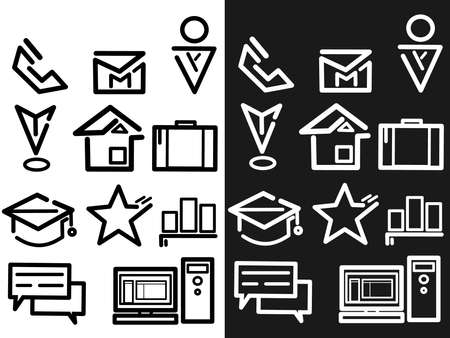 Survey and Questionnaire vector icon set. Included the icons as checklist, poll, vote, mobile, online survey, phone interview, res.