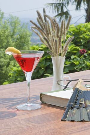 the aperitif on the terrace Imagens