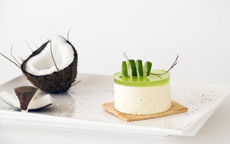 fresh sweet and creamy coconut with lime jelly