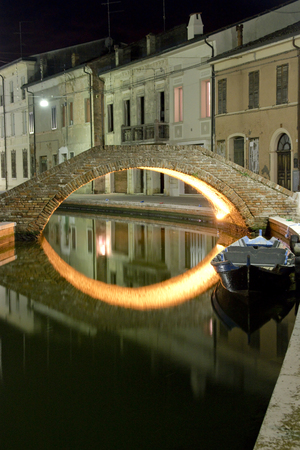 night vision: a beautiful night vision on Comacchio bridges.