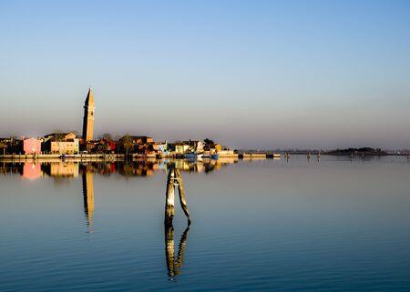 Panorama of Burano, a small island in the Venetian lagoon
