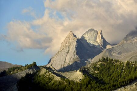 Splendid mountain landscapes in the Mont Blanc group Stock Photo