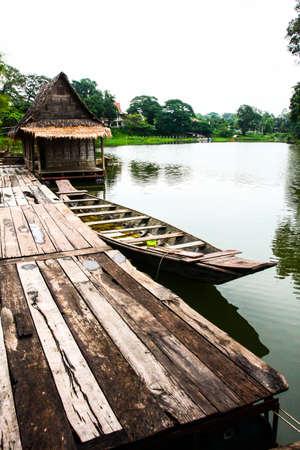turism: Boat in ayutthaya,Thailand
