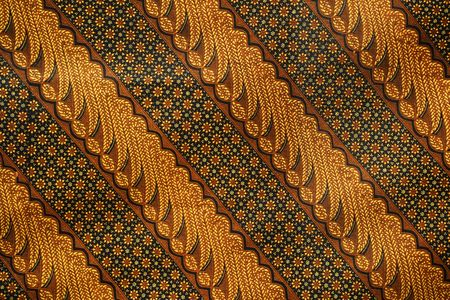 One among thousands pattern of batik, Indonesia traditional cloth Stock Photo