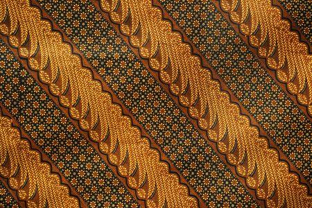 Un modèle parmi des milliers de batik, tissu traditionnel Indonésie