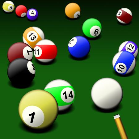Billiard game photo