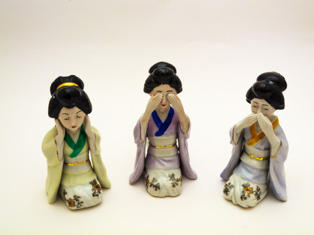 Porcelain figurines photo