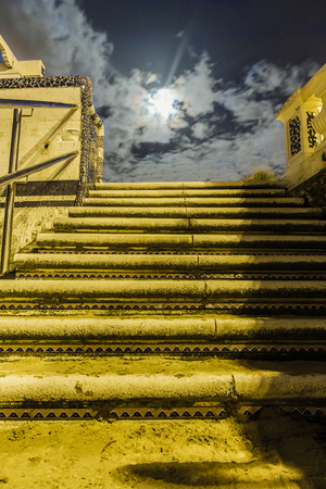 moon gate: Stairs to the moon Stock Photo