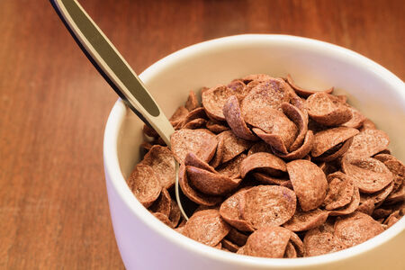 Cereals with chocolate photo