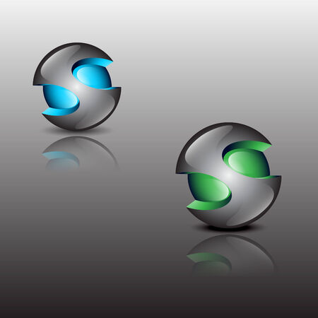 steel ball colors Vector