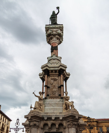 privileges: monument to the privileges of Navarra in Pamplona