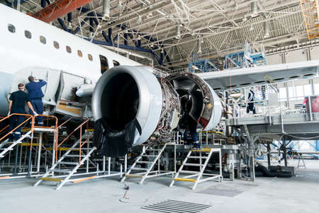modernization: This airplane is disassembled to basic parts and workers and engineers are performing repairs, fixes, modernization and renovation  in the Lufthansa Technik hangar in Sofia, Bulgaria, May 19, 2014.