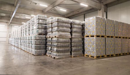 Packs Staropramen and Hoegaarden beer bottles are seen in the Molson Coors Kamenitza brewery warehouse, April 28, 2015, near the city of Haskovo, Bulgaria. Kamenitza brewery has been founded in 1881, and Molson Coors Brewing Company bought it in 2012. Editorial