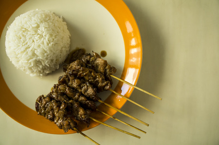 jasmine rice: grill pork barbecued with jasmine rice