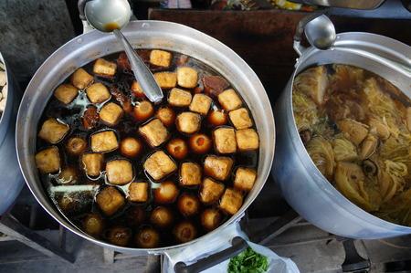 protien: tofu soup with five spices