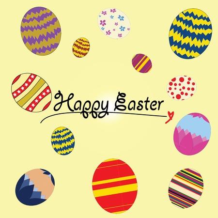 egg hunt: Vector illustrator happy Easter eggs festival rabbit egg hunt