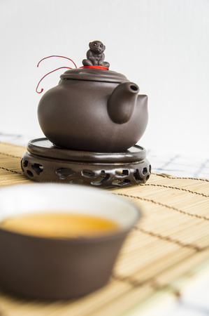 oolong: tea teapot cup Chinese style pottery clay Oolong cha