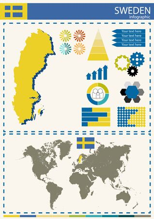 nation: vector illustration sweden country nation national culture