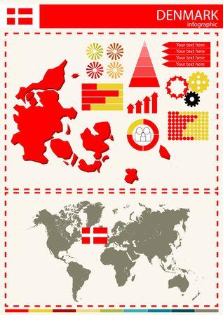 national culture: vector Denmark illustration country nation national culture Illustration
