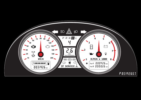 dash: automotive icon car dashboard vehicle speedometer