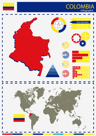 national culture: vector Colombia illustration country nation national culture