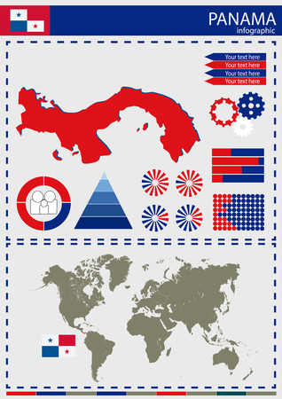 nation: vector Panama illustration country nation national culture Illustration