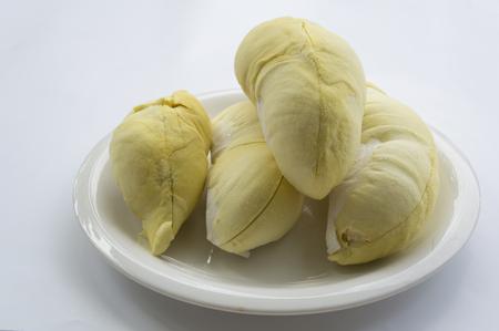 olfato: c�scara de durian frutas tropicales huele sabroso rey Foto de archivo