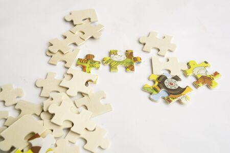 unrecognizable: abstract background jigsaw part decision teamwork